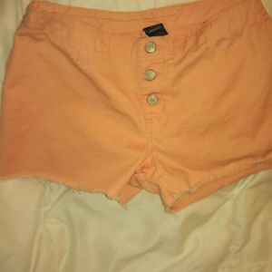 No Boundaries Salmon 100% cotton cutoff shorts